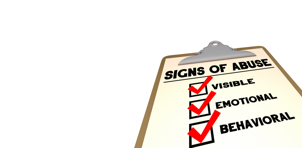 Signs of abuse checklist